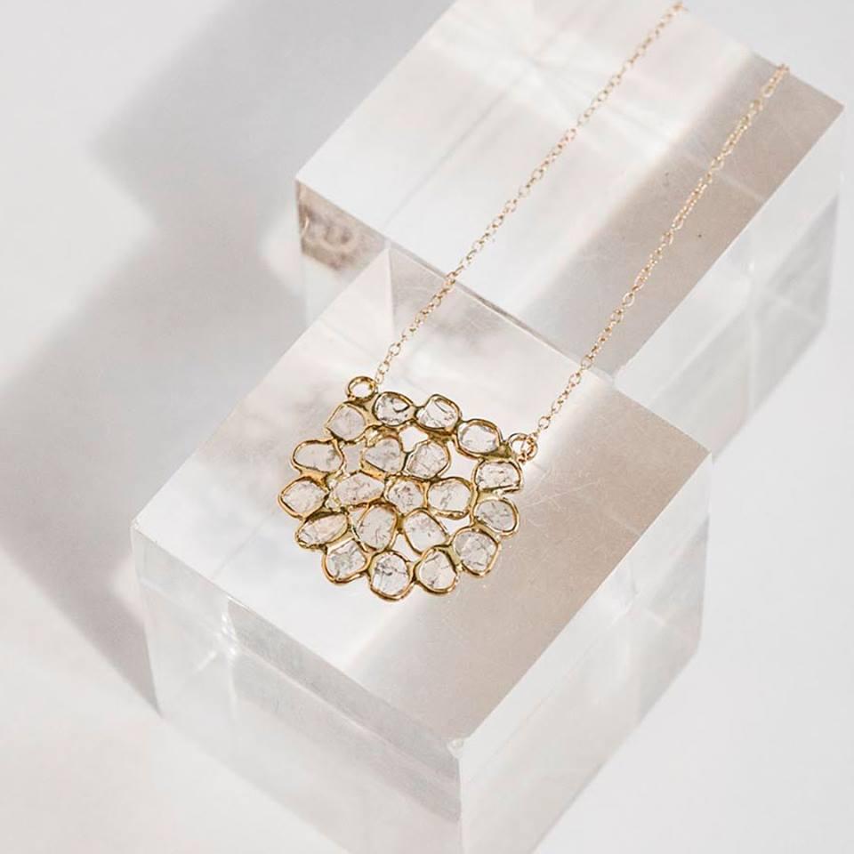 Chan Luu flower pendant