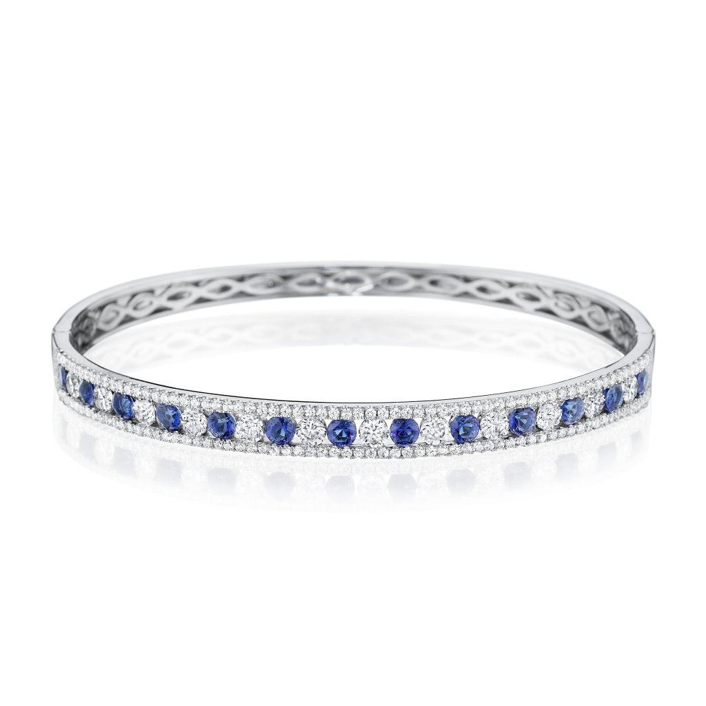 Fana diamond and sapphire bracelet