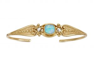 Just Jules blue and gold pin cuff