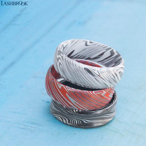 Lashbrook men's patterned rings