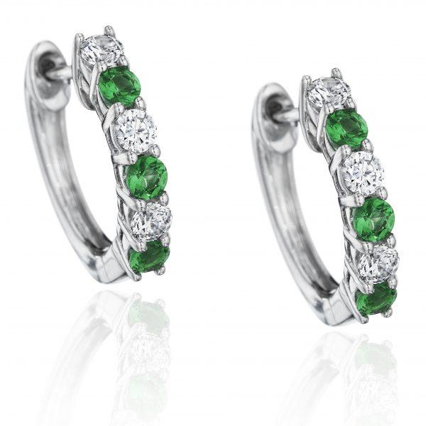 Fana diamond and emerald earrings
