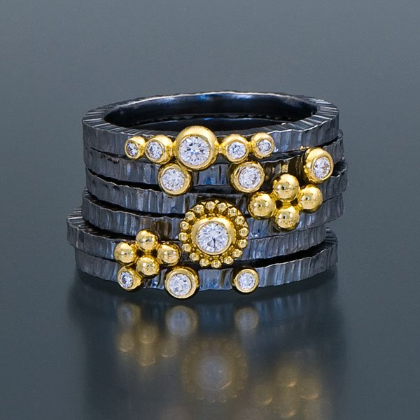 Our Zaffiro jewelry collection gets its stunning shapes and textures from granulation, an ancient process.