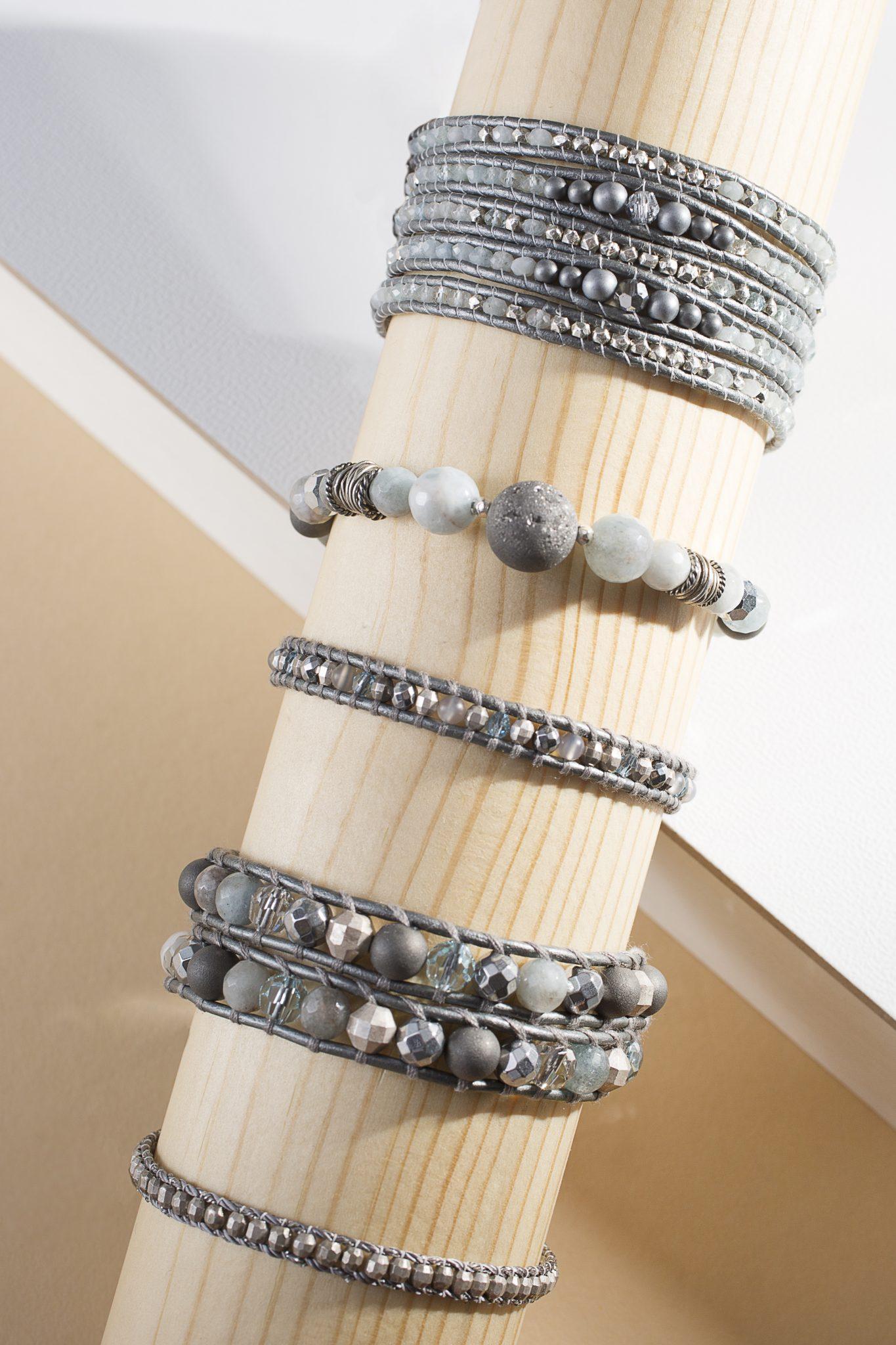Chan Luu gray bracelets