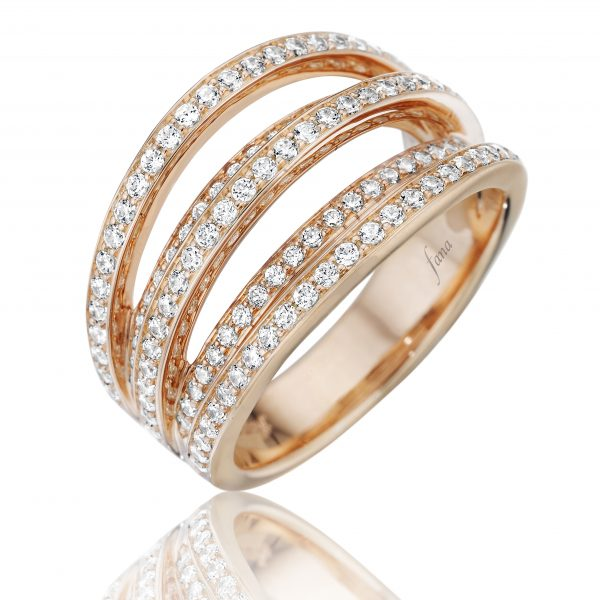 Fana diamond and gold rings