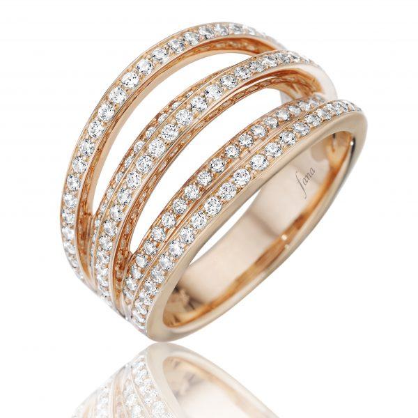 Fana diamond and gold rings