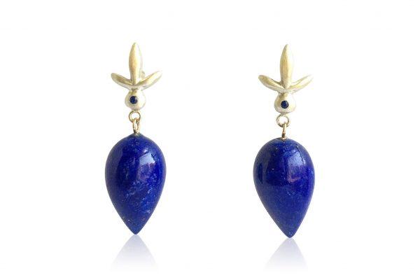 Judi Powers blue earrings