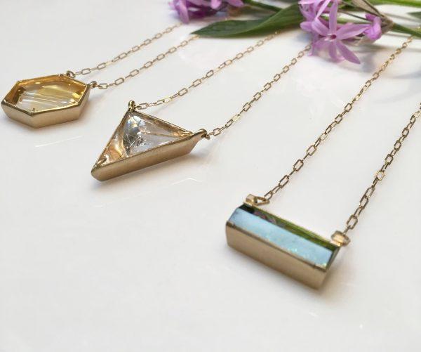 Jennifer Dawes geometrical pendants