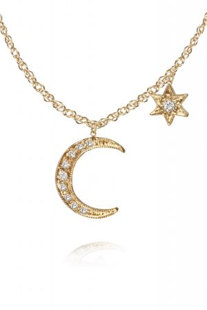 Just Jules moon and star necklace