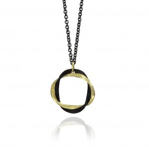 black and gold pendant