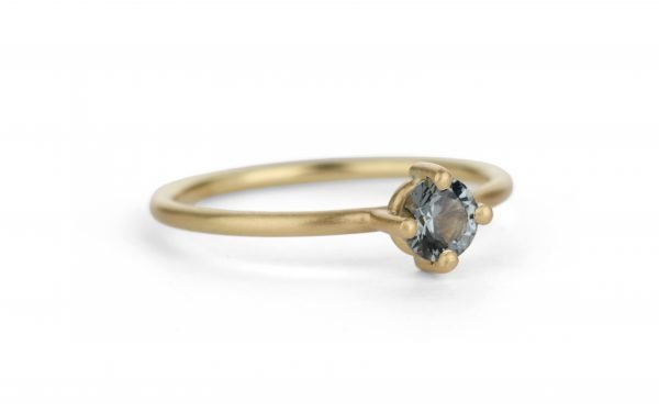 gold and black diamond ring