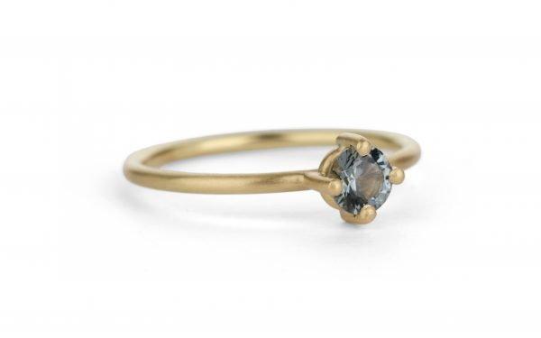 gold and black diamond ring