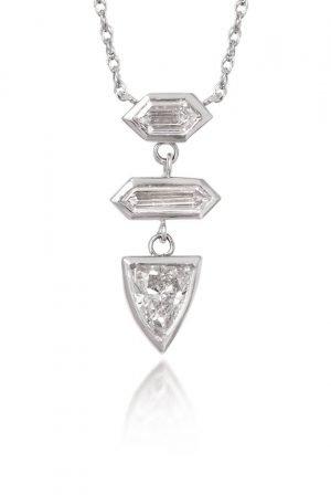 silver geometrical pendant
