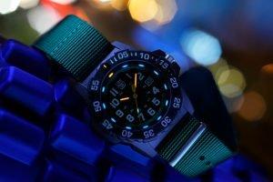 Luminox watch at night