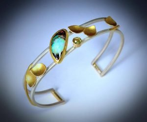 Gold and turquoise piece