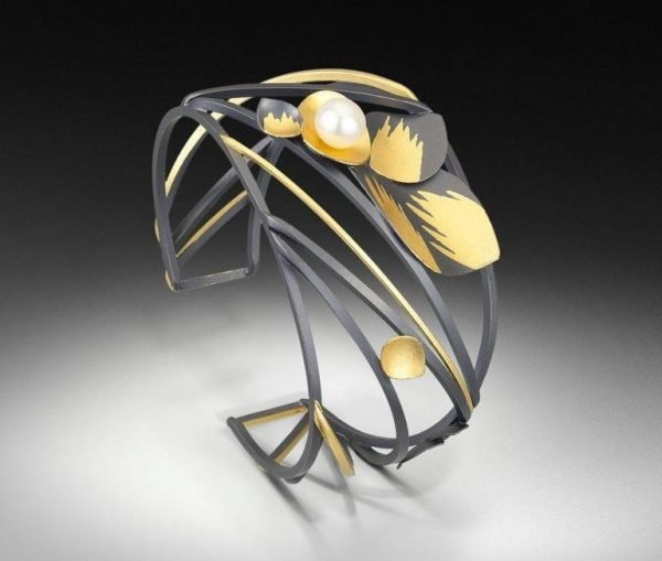 black and gold Judith Neugebauer ring