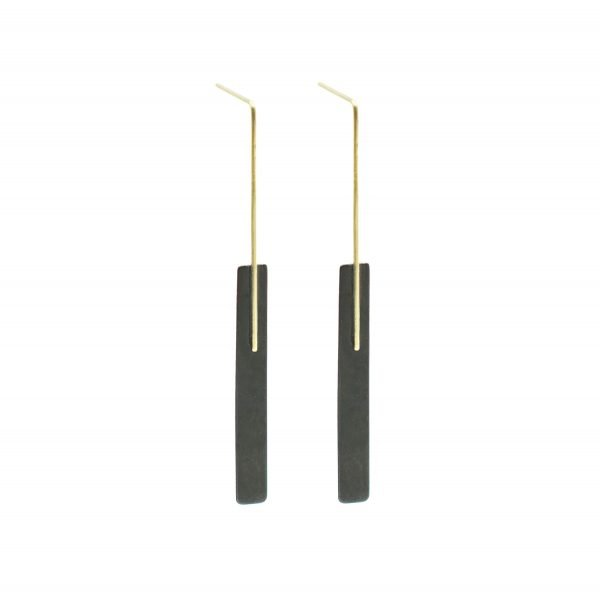 Kyla Katz gold and black earrings