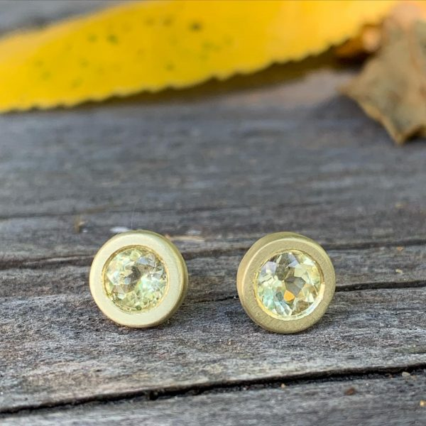 Gold and yellow diamond earrings