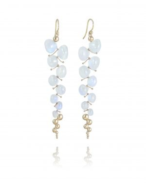 gold and pearl dewdrop earrings