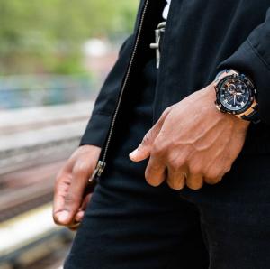 A man wearing a g-shock watch