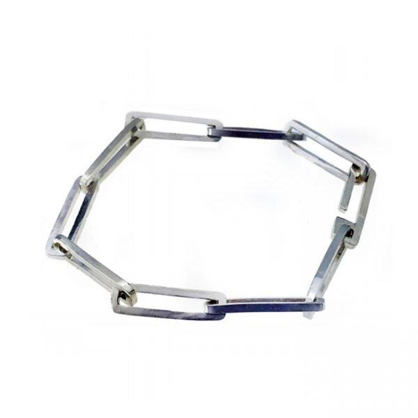 Russell Jones square link bracelet