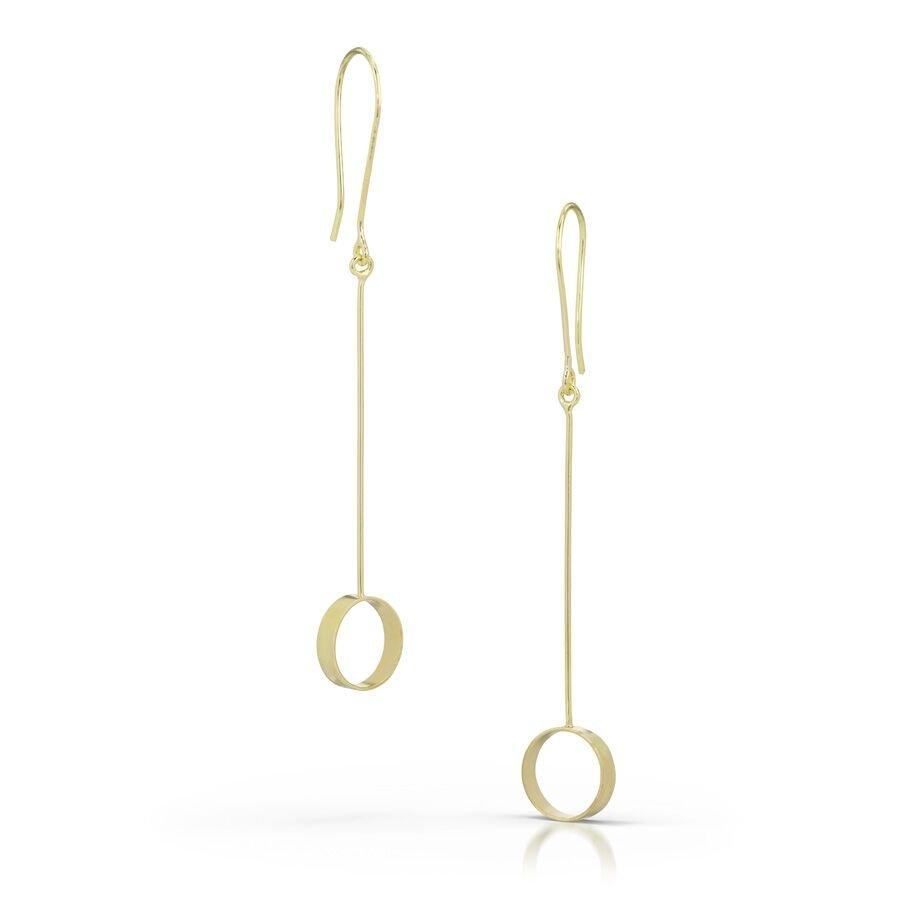 Kyla Katz gold drop earrings