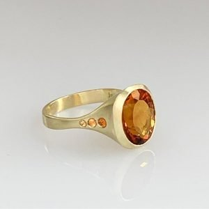 gold and yellow ring