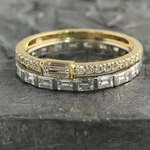 gold and diamond bands