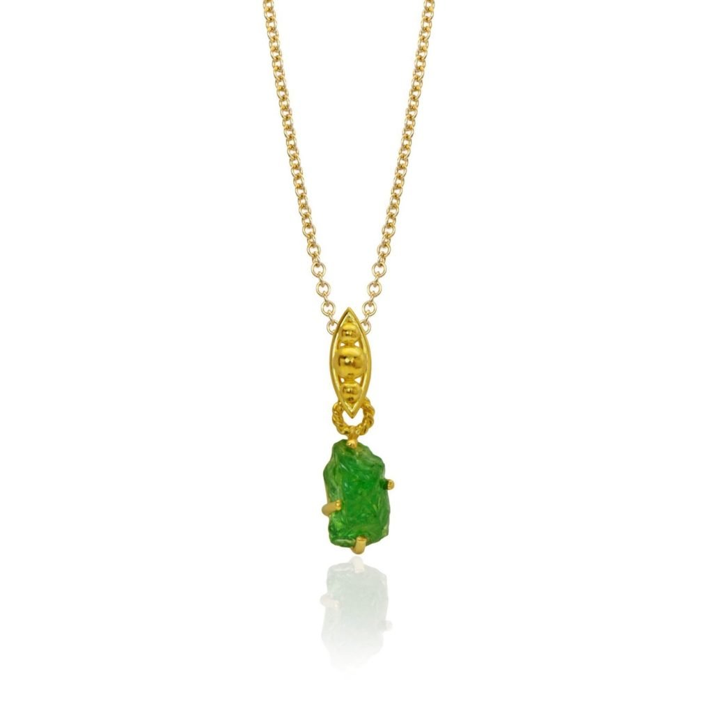 gold and green pendant