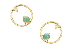 WWAKE Opal and Diamond Earrings