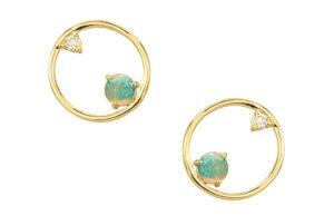 WWAKE Opal and Diamond Earrings