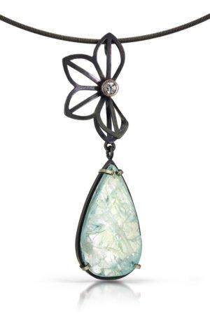 Karin Jacobson Aqua Sapphire Necklace