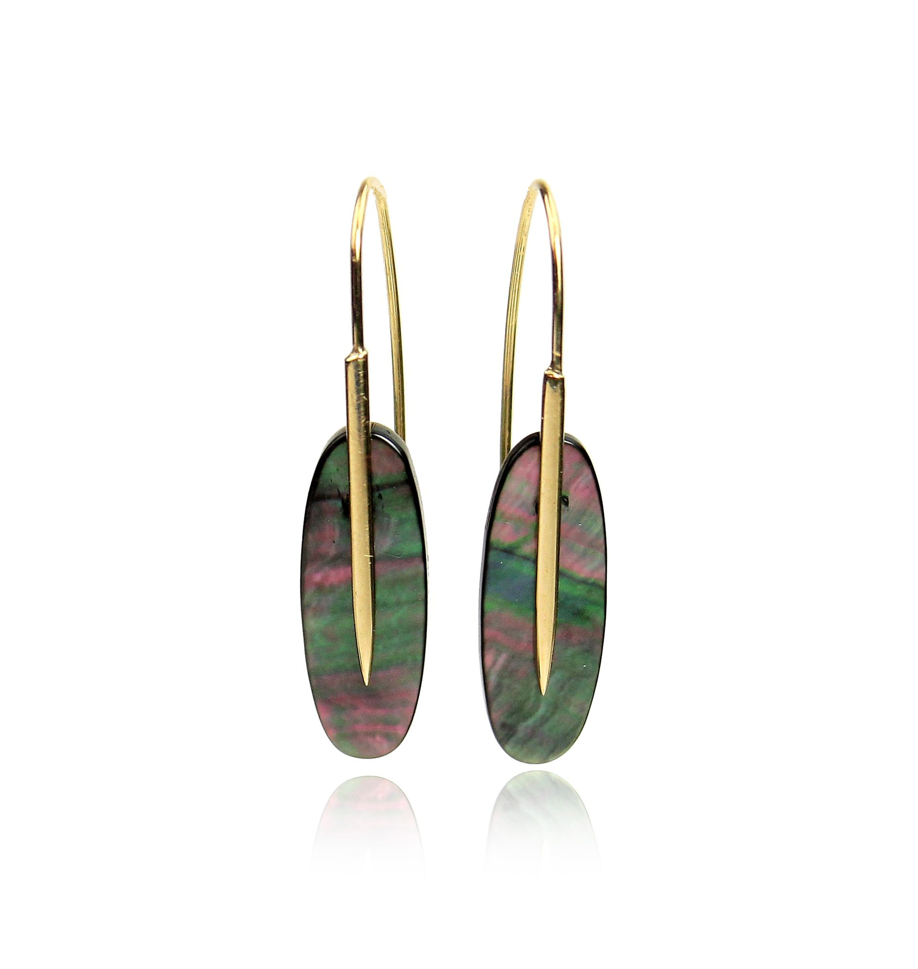 Rachel Atherley Mother of Pearl Feather Earrings