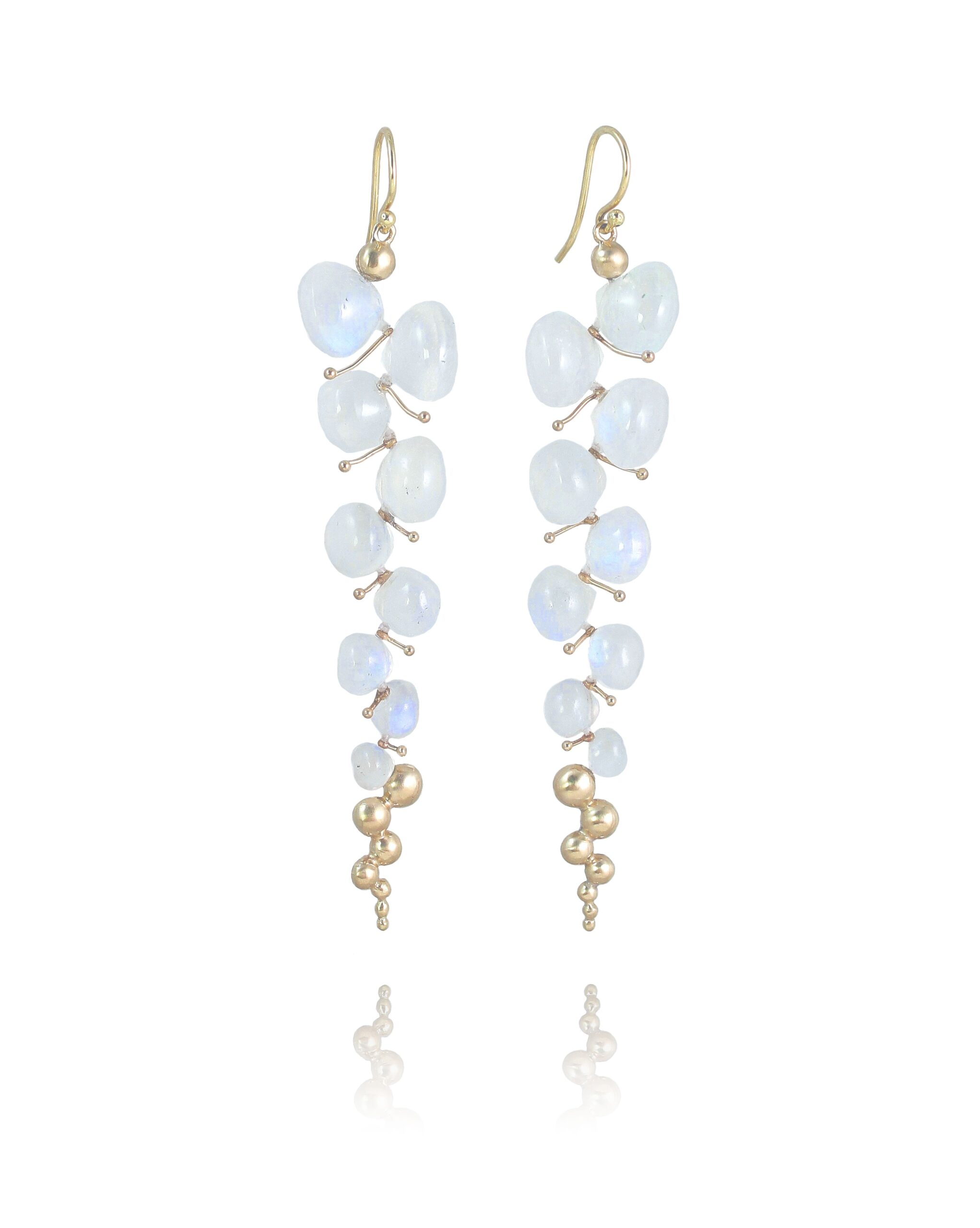 Rachel Atherley Rainbow Moonstone Caviar Earrings