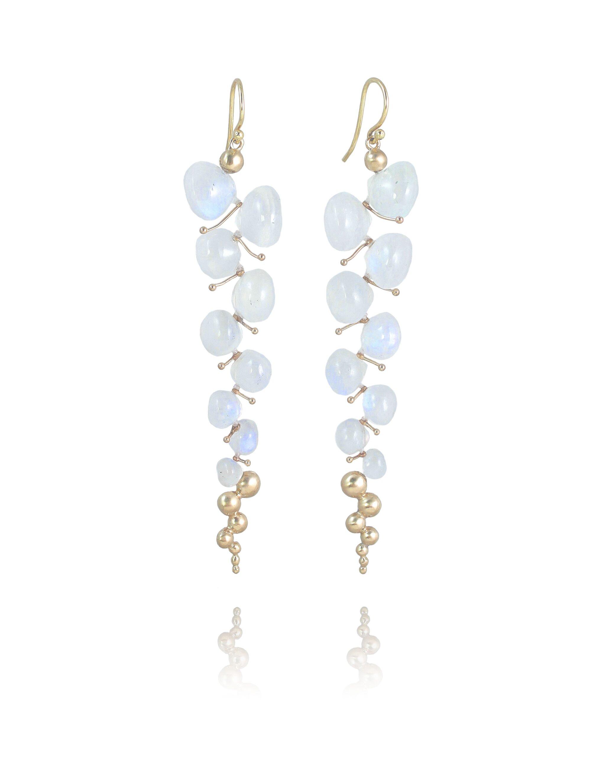 Rachel Atherley Rainbow Moonstone Caviar Earrings
