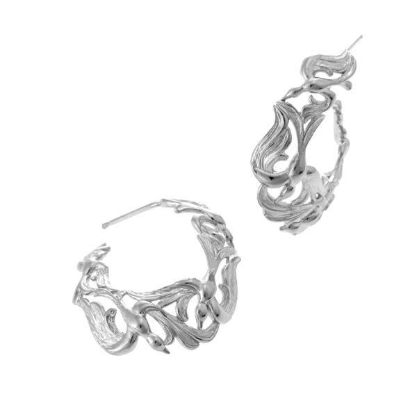 Stephanie Occhipinti Swallows Circle Earrings