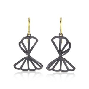 Karin Jacobson French Wire Cloud Fold Earrings