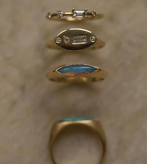 WWAKE Gold and Blue Rings