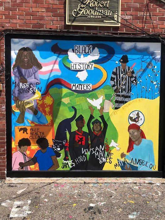 Holly Bostian's 2020 mural