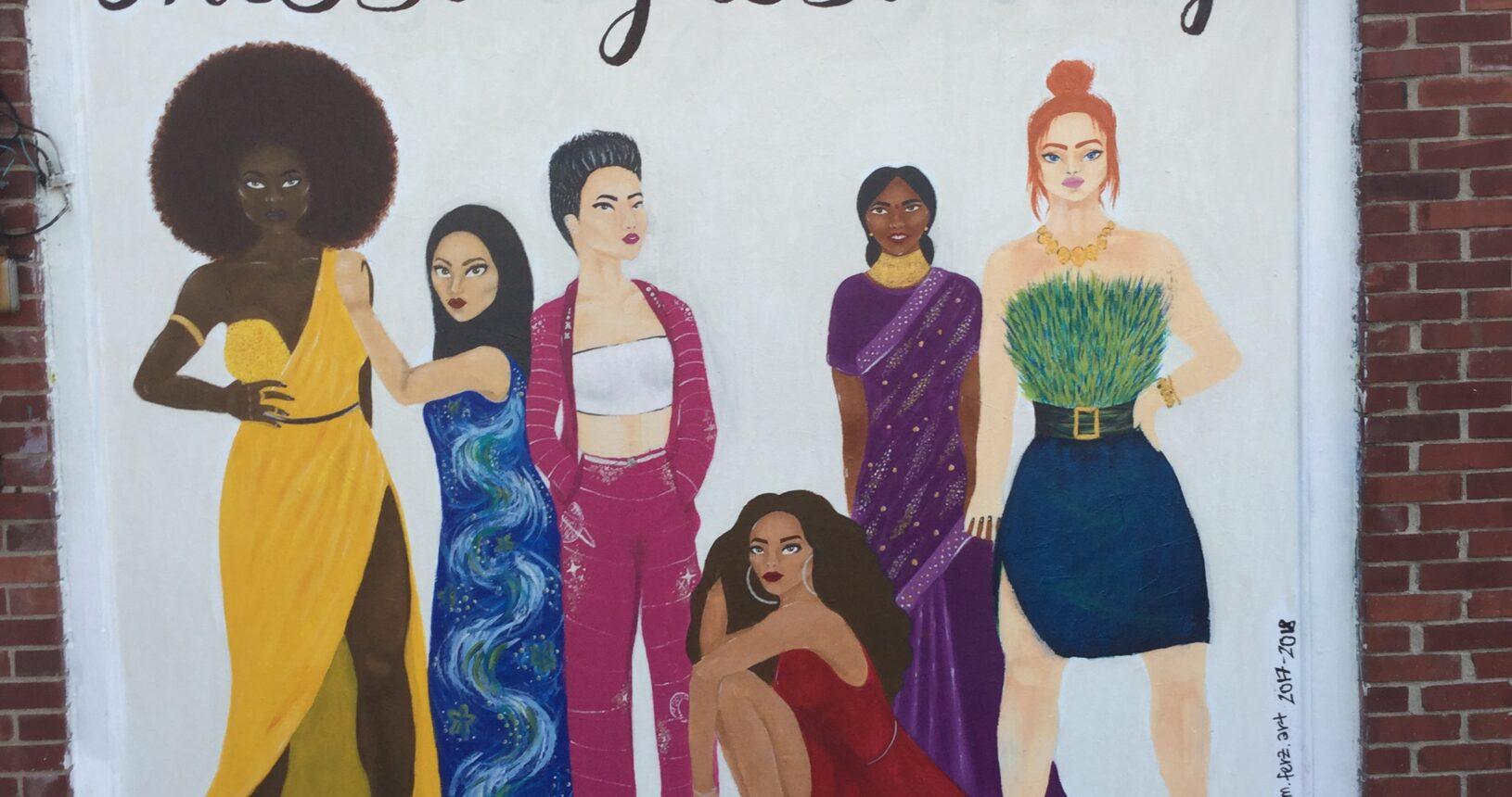 Maya Ferzandi's 2017 mural